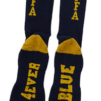 4EVER BLUE CREW SOCKS NAVY/