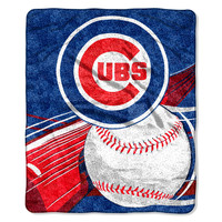 Chicago Cubs Blanket - 50x60 Sherpa - Big Stick Design