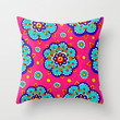 Kaleidoscope Throw Pillow by PeriwinklePeacoat