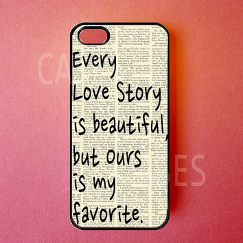 Iphone 5 Case Love Story Iphone Cover, Cute Apple Iphone Cases