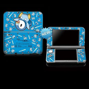 Protective Skin Sticker for  Genius Stickers for Nintendo NEW 3DS LL/ NEW 3DS XL BLUEKawaii Pokemon go  AT_89_9