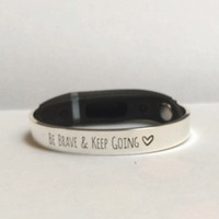 Fitbit bracelet Fitbit Flex Be Brave And Keep Going Silver Inspiration