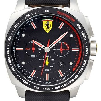 Scuderia Ferrari 'Aero Evo' Chronograph Nylon Strap Watch, 46mm