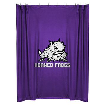 Texas Christian University Horned Frogs Shower Curtain