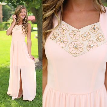 Sweet Peach Maxi Dress