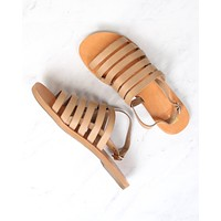 bc footwear - teacup leather ankle strap sandals in tan