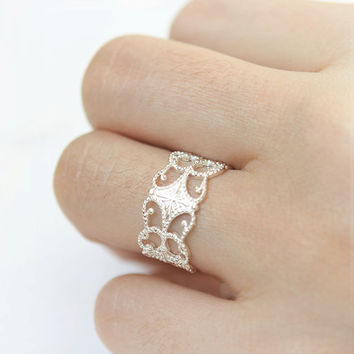 Adjustable Filigree Ring / Choose your color / Gold and Silver