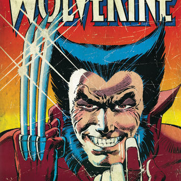 Wolverine Comic Poster