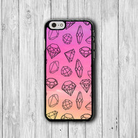 Diamond Girl Pink Pastel Tribal Cell Phone Case iPhone 6 Cover, iPhone 6 Plus, iPhone 5S, iPhone 4S Hard Case, Rubber Deco Accessories Gift
