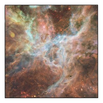 Megical cosmos wood wall art