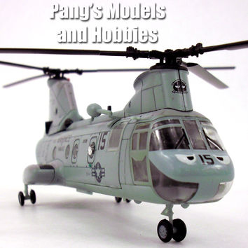 Boeing Vertol CH-46 Sea Knight - Marines- 1/72 Scale Diecast Helicopter Model by Amercom