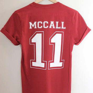 McCall 11 Red Graphic Unisex Tee - Teen Wolf Inspired