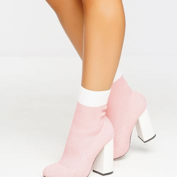 Step Up Bootie - Pink