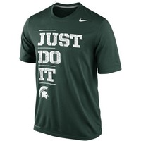 Nike Michigan State Spartans Just Do It Legend Performance T-Shirt - Green