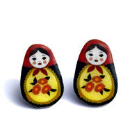 Nested Russian Doll Earrings (Style 1)