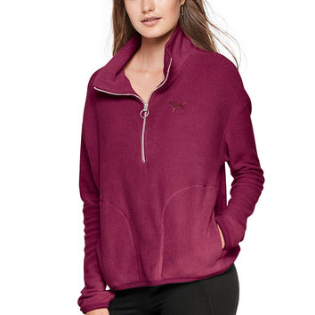 Stadium Half-Zip - PINK - Victoria's Secret