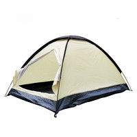 Rainproof polyester ultralight 2 Person UV Protection Outdoor travel Camping Hiking dome Tent Single Layer beach shelter tent