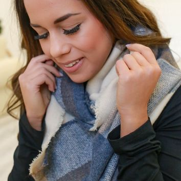 Frosted Windowpane Infinity Scarf