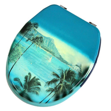 Coconut Tree MDF No Slow Descent Toilet Seat