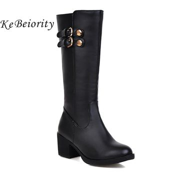 Horse Riding Thick Heel Boots