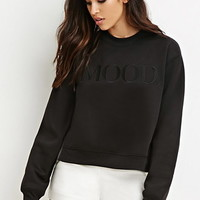 Mood Graphic Boxy Sweatshirt
