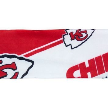 NFL Kansas City Chiefs Stretch Headband Womens Ladies  NFL Team Apparel
