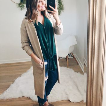 Wilder Long Cardigan - Oatmeal
