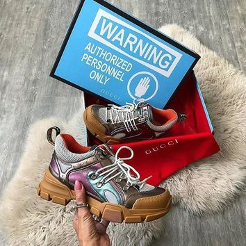 GUCCI Flashtrek sneaker with removable crystals-5