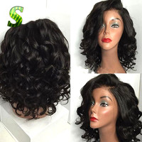 Full Lace Human Hair Peruvian Virgin Hair Wigs