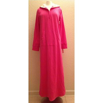 Jenni by Jennifer Moore French Terry Hooded Pullover Lounger Gown 43N44 XS Small