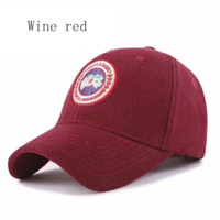 Canada Goose red woolen hat for men and women casual sports hat couple cap