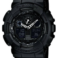 Casio GA100-1A1 Men's G-Shock Black resin Strap Watch