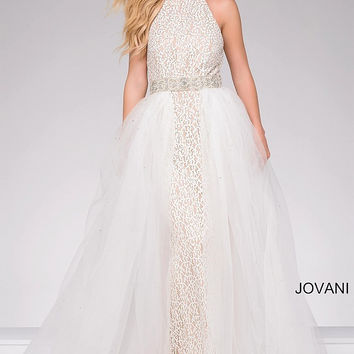 Jovani 45138 In Stock Ivory Size 2 Evening Gown or Prom Dress