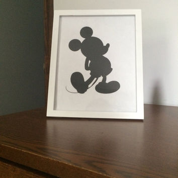 Mickey Silhouette Picture Frame