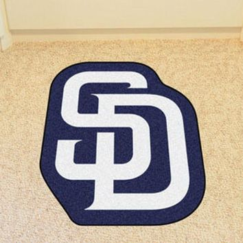 San Diego Padres Mascot Mat Area Rug - Man Cave, Bar, Game Room