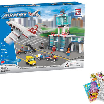 BRICTEK Airport 811 pcs Building Blocks (Compatible with Legos) BT-11506 with Coloring Book