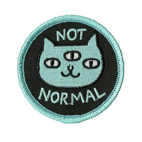 Not Normal Cat Iron-On Patch
