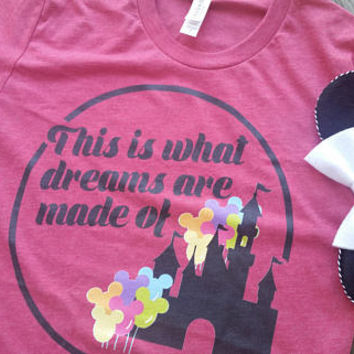 Disney Shirt/Disneyland Shirt/Disney World Shirt/Epcot Shirt/Animal Kingdom Shirt/Disney Vacation Shirt/Lizzie McGuire/Dreams
