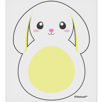 "Cute Bunny with Floppy Ears - Yellow 9 x 10.5"" Rectangular Static Wall Cling by TooLoud"