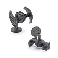 Star Wars 3-D Matte Darth Vader TIE Starfighter Cuff Links (Silver)