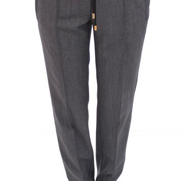 Dolce & Gabbana Gray Checkered Chinos Pants Sport