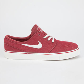 Nike Sb Stefan Janoski Linen Mens Shoes Red  In Sizes