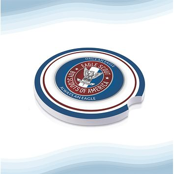 Eagle Scout US Car Cup Holder Ceramic Coasters (Set of 2)