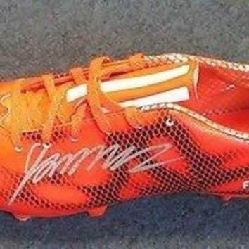 DCCKJY6X 8.5 Signed James Rodriguez Real Madrid Size 8.5 Adidas Soccer Cleat AUTO PSA/DNA COA