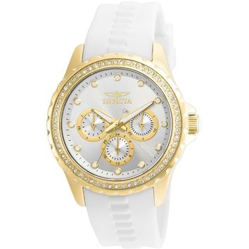 Invicta Women's 21900 Angel Quartz Chronograph Silver Dial Watch