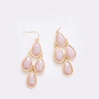 Cherise Pink Teardrop Dangle Earrings