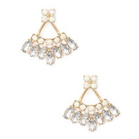 Faux Rhinestone Chandelier Ear Jacket