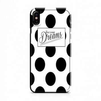 Kate Spade Live Your Dreams Polka Dots iPhone X Case