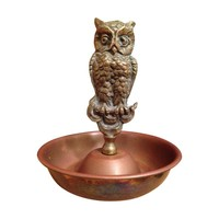 Pre-owned Vintage Brass Owl Ring Tray