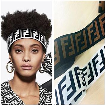 Fendi New Popular Women Men Personality Crochet Knit Knitted Headwrap Headband Warmer Head Sport Hair Band I12899-1